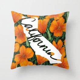 California - California poppy Throw Pillow