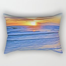 Irish Sea Rectangular Pillow