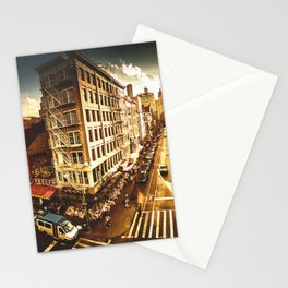 chinatown in nyc at dusk Stationery Cards