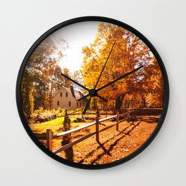 country house in vermont Wall Clock