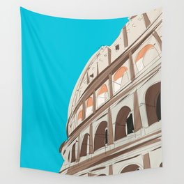 Rome, Italy Colosseum / Roma Il Colosseo, Italia Travel Poster Wall Tapestry