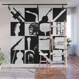 Pop Music Art B&W Wall Mural
