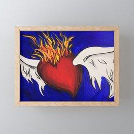 Flying Heart Framed Mini Art Print