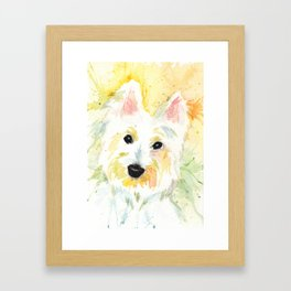 White Terrier Framed Art Print