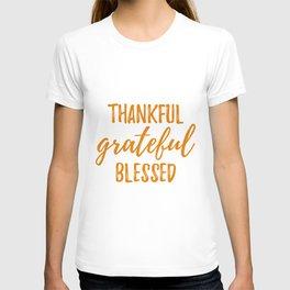Thankful Grateful Blessed - Orange T-shirt