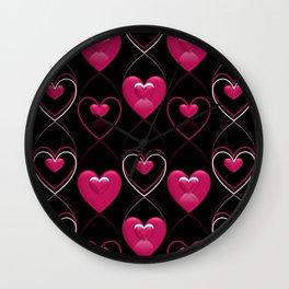 Ornament of Hearts Wall Clock