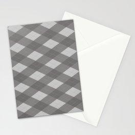 Pantone Pewter Gray Argyle Plaid Diamond Pattern Stationery Cards