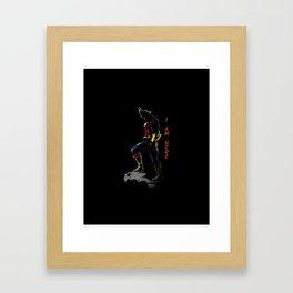 All Might Hero Pose Framed Art Print