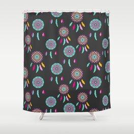 Dreamcatcher Feather Pattern Shower Curtain