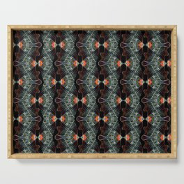 Glass and Lights Kaleidoscope Scanography Serving Tray