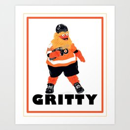 Gritty the new mascot of the Flyers in Philadelphia Art Print