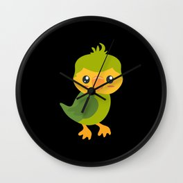 Kakapo Wall Clock