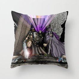 High-Noon at the Granite Horn Throw Pillow