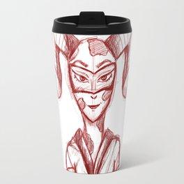 Hybrid Woman Sketch Travel Mug