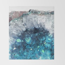 Blue Crystals Throw Blanket