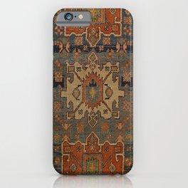 Persia Heriz 19th Century Authentic Colorful Orange Blue Green Vintage Patterns iPhone Case