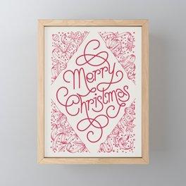 Classic Merry Christmas / RED Framed Mini Art Print