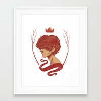 cargline Framed Art Prints featuring King Harry by cargdoodles