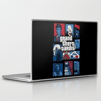 gta Laptop & iPad Skins featuring Doctor Who and GTA - Nerd Mix by MarcoMellark