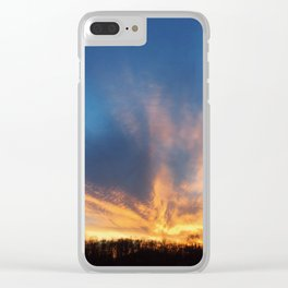 Sunset Fire Clear iPhone Case