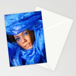 Colour: blue Stationery Cards