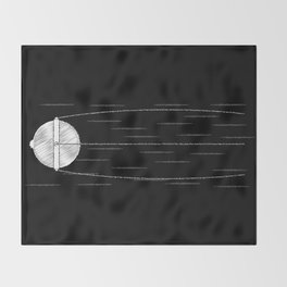 Sputnik Chalk Drawing Throw Blanket