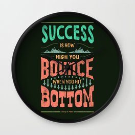 Lab No. 4 Success Is How George S. Patton Life Inspirational Quotes Wall Clock