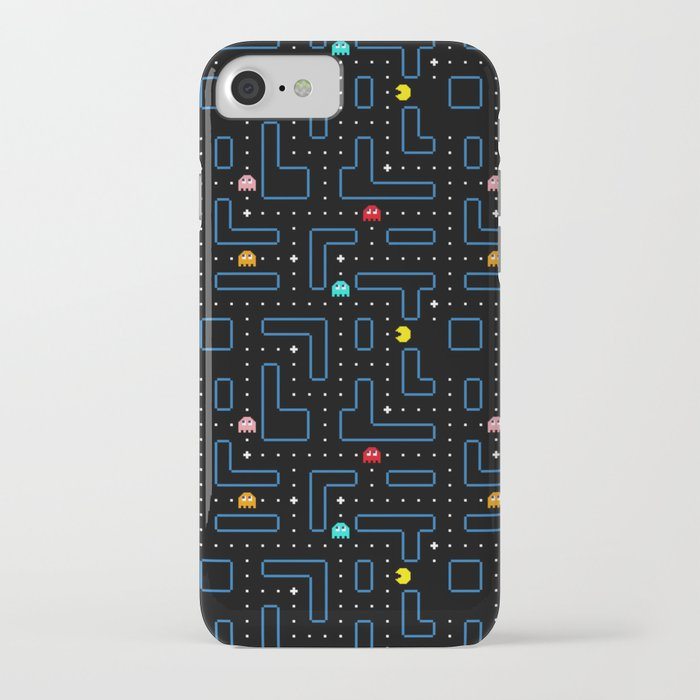 pac-man retro arcade gaming design iphone case