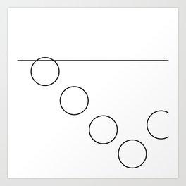 The Falling Circle Art Print