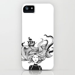 """ Sea Battle"" Hair iPhone Case"