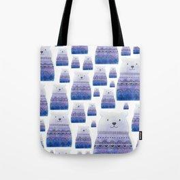Perky Bear Print Tote Bag