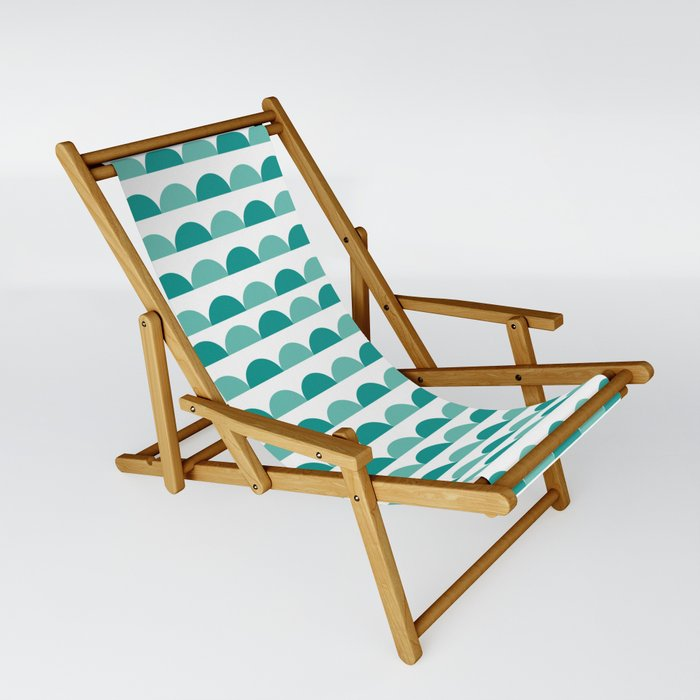 Teal Scallops Sling Chair