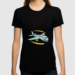 Angry Jumbo Jet Plane Mascot T-shirt