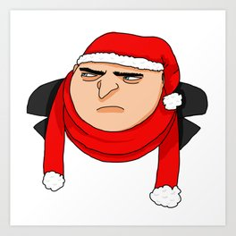 Christmas Gru Art Print