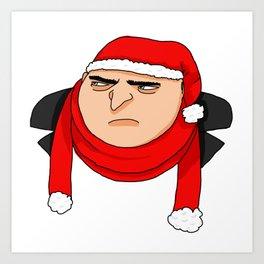 Christmas Gru Art Print