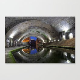 Canal Tunnel in Birmingham used as a set in the film Ready Player One Canvas Print