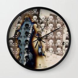 Overhead Skull and XBones: Shadow Burn Wall Clock