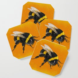 Fuzzy Bumblebee Coaster