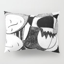 Healing Black and White Drawing: 'Love' Pillow Sham