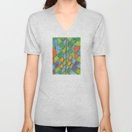 Butterfly Wing Pattern Unisex V-Neck