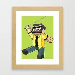 Block Sighted - Minecraft Avatar Framed Art Print