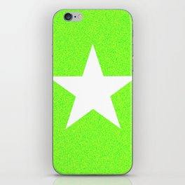 white star on green and yellow abstract background iPhone Skin