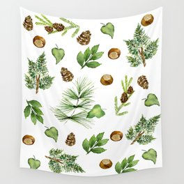 Chestnut Pines Wall Tapestry