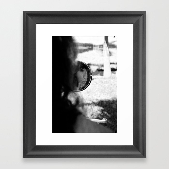 Girl in the mirror Framed Art Print by andrewhaywardsmith | Society6