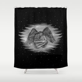 Eros - I LOVE YOU Shower Curtain