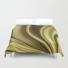 Abstract Fractal Colorways 02 Simple Gold Duvet Cover