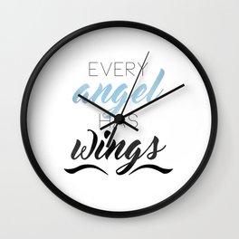 Every Angel Has Wings Wall Clock