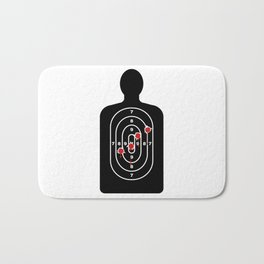 Human Shape Target With Bullet Holes Bath Mat