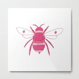 strawberry bee Metal Print