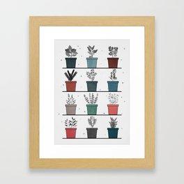 HERBS POSTER Framed Art Print